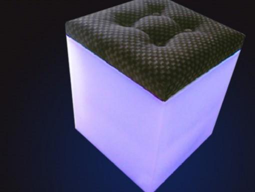 Cubo Taburete de led ESER 40cm