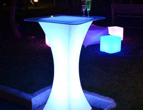 Mesa de led TEBAK 45x45x110cm